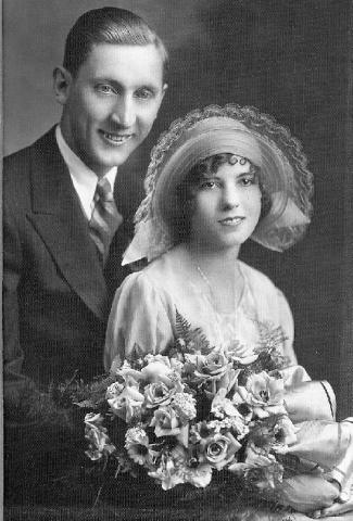 Chris Marks Jr. and Cynthia Wagner Marks wedding picture taken on June 3, 1930.